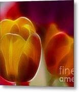 Tulip-7016-fractal Metal Print