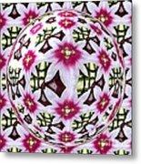 Tulip Kaleidoscope Under Glass Metal Print