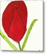 Tulip Of The Heart Metal Print