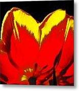Tulip Underside Metal Print