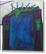 Tulipani T8- Oil On Canvas100x100 Cm Metal Print