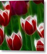 Tulips-6823-fractal Metal Print
