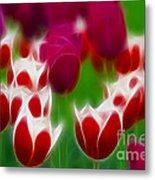 Tulips-6848-fractal Metal Print