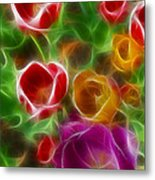 Tulips-6944-fractal Metal Print