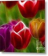 Tulips-7022-fractal Metal Print