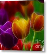 Tulips-7060-fractal Metal Print