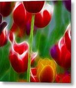 Tulips-7069-fractal Metal Print