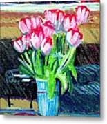 Tulips And Valentines Metal Print