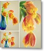Tulips Collage Metal Print