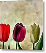 Tulips Color Metal Print