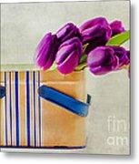 Tulips For Mom Metal Print