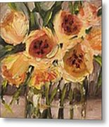 Tulips In Yellow By Alabama Artist Angela Sullivan Metal Print