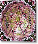 Tulips Kaleidoscope Under Polyhedron Glass Metal Print