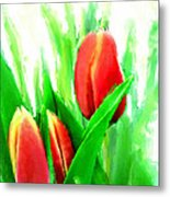 Tulips Metal Print by Moon Stumpp