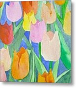 Tulips Multicolor Metal Print