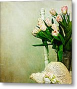 Tulips On A Chair Metal Print