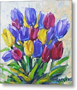 Tulips Time Love The Spring By Prankearts Metal Print