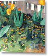 Tulips Watercolor Painting Metal Print