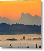 Tully Fog In Everett Metal Print