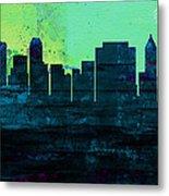 Tulsa City Skyline Metal Print