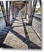Tulsa Pedestrian Bridge Metal Print