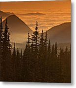 Tumtum Peak At Sunset Metal Print