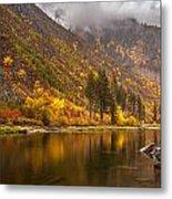 Tumwater Canyon Fall Serenity Metal Print