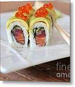 Tuna Sushi With Caviar  Metal Print