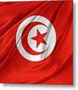 Tunisia Flag Metal Print