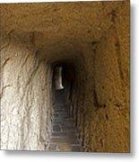 Tunnel At Meteora Monastery   #9763 Metal Print