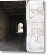 Tunnel In Venice Metal Print