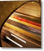 Tunnel Light Trails Metal Print
