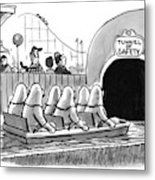 Tunnel Of Safety Metal Print