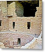 Tunnel Opening In Kiva Of Spruce Tree House On Chapin Mesa In Mesa Verde National Park-colorado  Metal Print