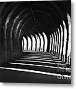 Tunnel With Shadows Metal Print