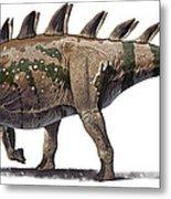 Tuojiangosaurus Multispinus Dinosaur Metal Print