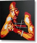 Tupac Pray For A Brighter Day Metal Print