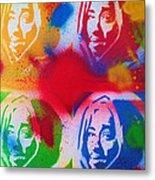 Tupac V Warhol Metal Print