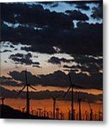 Turbine Sunset Metal Print