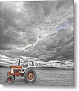 Turbo Tractor Superman Country Evening Skies Metal Print