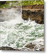 Turbulent Devils Churn - Oregon Coast Metal Print