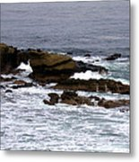 Waves Crashing Into La Jolla Shores Metal Print