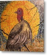 Turkey In The Moonlight Metal Print