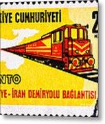 Turkey Iran Railroad Metal Print