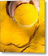Turmeric Powder At Local Market - Myanmar Metal Print