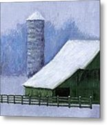 Turner Barn In Brentwood Metal Print