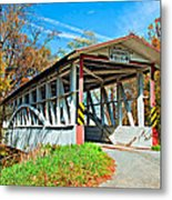Turner's Covered Bridge Metal Print