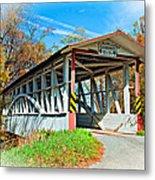 Turner's Covered Bridge Vignette Metal Print