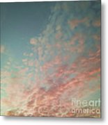 Turquoise And Peach Skies Metal Print by Holly Martin