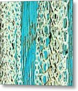 Turquoise Chained Metal Print